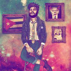 Fab Ciraolo : l'artiste chilien qui hipsterise des célébrités - Le Che Guevara