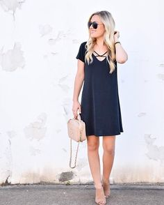 Update your #LBD collection with a comfy criss cross silhouette via @lomurph | Shop her look with www.LIKEtoKNOW.it | http://liketk.it/2pfUF #liketkit