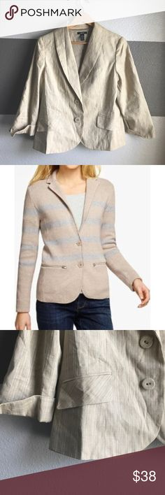 Alfani Linen Blazer Fun blazer to pair with your favorite white tee and jeans. Linen styled to give it your own statement. Alfani Jackets & Coats Blazers