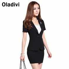 Find More   Information about Ladies Skirt Sets Uniform Suit for Women Business Formal Office Suits Work Wear 2015 Summer Short Sleeve 2015 New Blazer Jackets,High Quality  ,China   Suppliers, Cheap   from Oladivi Group - Minabell Fashion Store on Aliexpress.com