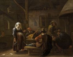 The Athenaeum - Tavern Scene with a Pregnant Hostess (Jan Steen - )