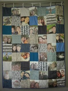 Custom Memory Photo Quilt  Wedding Anniversary Baby by SewOctober