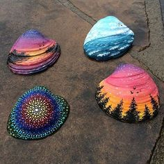 Pretty seashells By @katiebrooksart - Check out our fellow art page @arts_help My collection of cool/interesting/inspirational artwork and photography from net