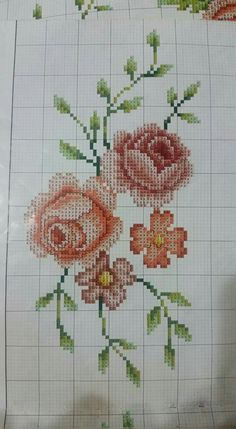 This Pin was discovered by Ays Cross Stitch Rose, Cross Stitch Flowers, Cross Stitch Charts, Teapot Cover, Yarn Shop, Easy Crochet Patterns, Vintage Patterns, Diy And Crafts, Embroidery