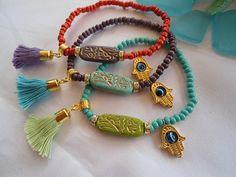 EGYPTIAN CHARM Bracelets - Ethnic Bracelets - Bohemian Bracelets- Gypsy Bracelets-Middle Eastern Jewelry