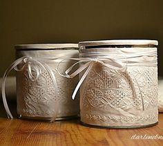 s 15 empty tin can hacks that will make your home look amazing crafts home decor repurposing upcycling Cover some super stylish storage Decor Crafts, Diy Crafts, Home Decor, Fabric Crafts, Tin Can Crafts, Craft Stash, Art And Craft, Upcycled Crafts, Recycled Cans