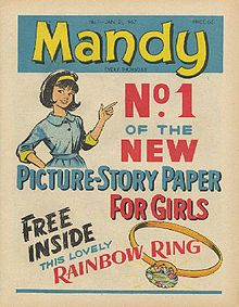 Another comic I remember from my childhood was 'Mandy', do you remember the comic strip stories about Angel, the Victorian girl who helped orphans? Pop Art Vintage, Vintage Books, Vintage Magazines, Vintage Comics, Vintage Stuff, Vintage Paper, Vintage Items, 1970s Childhood, My Childhood Memories
