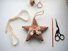 Вяжем крючком ёлочную игрушку из джута «Звезда» за один час | Ярмарка Мастеров - ручная работа, handmade