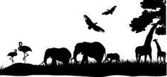 """Résultat de recherche d'images pour """"silhouettes animaux savane"""""""