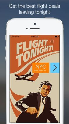 The Flight Tonight App Makes it Easy to Book a Last-Minute Flight #travel trendhunter.com