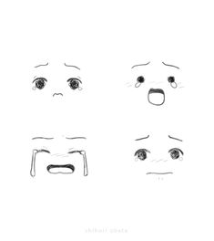 How to Draw Feelings: Facial Expressions 101 Character Drawing, Character Design, Beautiful Easy Drawings, Simple Face Drawing, Drawing Feelings, Crying Face, Drawing Expressions, Sad Faces, Manga Artist