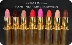 www.beingmelody.com   Sam Fine for Fashion Fair Lipstick Swatches and Review   http://www.beingmelody.com