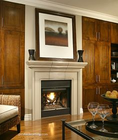 Fireplace & Fireplace Mantel Photos / Pictures, Decorating, Design & Decor Ideas for Fireplaces, Hearths, Mantels in the Home / House - GetDecorating.com