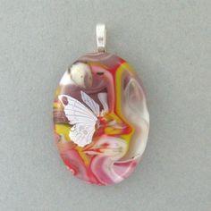 Glass Pendant Pot Melt Butterfly Decal
