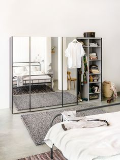 Micasa Schlafzimmer mit Schwebetürenschrank ORSON Wardrobe Rack, Furniture, Home Decor, Reach In Closet, Bedroom, House, Decoration Home, Room Decor, Home Furnishings