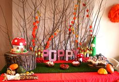 Woodland Dessert Table by Flutterby Bakery.