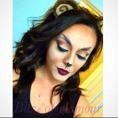 Monkey makeup look. Halloween makeup