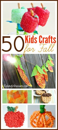 50 Kids Crafts for Fall | Your Ultimate Fall Crafting Bucket List - a huge list of fall kids crafts for the season! Easy DIY projects for your children