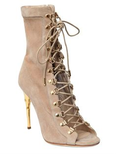 110MM AVA SUEDE LACE-UP BOOTS