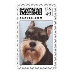 Miniature Schnauzer Stamp. It is really great to make each letter a special delivery! Add a unique touch to invites or cards with your own photos or text. Just click the image to learn more!
