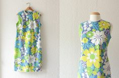 1960s John Abbot graphic floral print shift by School of Vintage