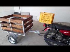 Remolque para moto - YouTube Bike Cargo Trailer, Motorcycle Trailer, Motorcycle Camping, Cargo Trailers, Homemade Trailer, Agricultural Tools, Homemade Motorcycle, Bike Cart, Metal Bending Tools