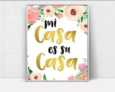 Mi Casa Es Su Casa, entryway decor, hallway wall decor, Wall art prints, zen wall décor, Artwork Prints, Inspiring Minimalist Print    Beautiful inspirational print featuring Mi Casa Es Su Casa theme, available for instant download. Its an ideal gift for birthdays, anniversaries, mothers and fathers day and many more occasions such as house warming, giving lots of character to a new home.    This listing is for digital files only and no physical items will be mailed.    If you need anything…