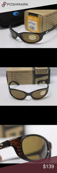 Costa Del Mar Stringer 580P Polarized Sunglasses Brand new in the box Costa Del Mar Stringer POLARIZED  Sunglasses with Tortoise Frame and Polarized 580P Amber Lens.  Includes Costa box, zippered case, sticker, cleaning cloth, and paperwork. 100% authentic direct from Costa.  MSRP is $159 + tax.  Model number ST10OAP.   These are unisex.  I ship out within 24 hours.   Thank you for looking and have a wonderful day! Costa Del Mar Accessories Sunglasses