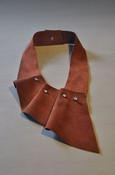 Aumorfia |SOFT| pleats mono suede necklace