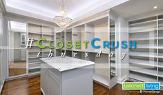 If you're feeling the pinch of insufficient closet space, Tailored Living's designers can help you maximize #closet storage space throughout your home with custom closet design.