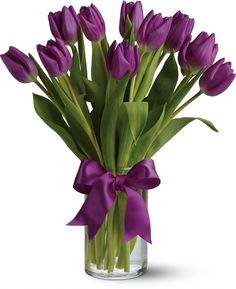 Passionate Purple Tulips I absolutely love these, being delivered to someone special today for Mother's Day!
