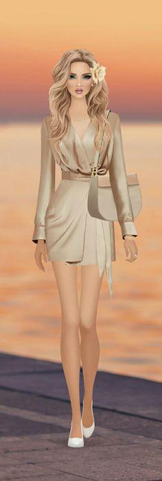 Fashion Moda, Fashion Dolls, Fashion Art, Fashion Beauty, Fashion Outfits, Womens Fashion, White Ruffle Blouse, White Shirts Women, Covet Fashion Games