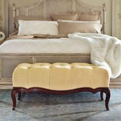 At nearly a foot deep, the deeply button-tufted cushion on the Catherine Upholstered Bench has more than enough allure to compete with a chair for seating in a conversation area.