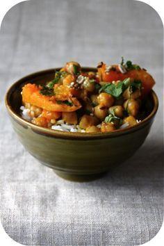 Curry de courge aux pois chiches | Ligne & Papilles