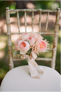 Juliet garden roses with soft pink astilbe and dusty miller