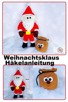 Weihnachtsbaum, Weihnachten, Tannenbaum,Christbaum,Häkeln,Anleitung,  Amigurumi, Crochet Hats, Amigurumi, Santa Clause, Christmas Decorations, Knitting Hats