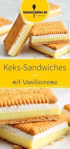 Wir zeigen dir ein schnelles Rezept für leckere #Keks-Sandwiches mit #Vanillecreme.