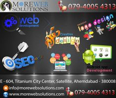 Hello, Greeting from MoreWeb Solutions. We are glad to offer our services by professionals like Web #design, #Graphic & #logo design, #WebPromotion & App #development.