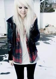White hair, silver hair, beautiful girl