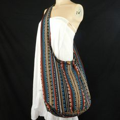 Hand Woven Cotton Bag Purse Hobo Hippie Sling by BenThaiProducts, $13.99