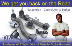 Control arms are the crucial components of the front suspension. Don't wait till it's too late, get all your automotive parts at KJVR UNDERCAR FITMENTS.