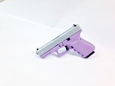 Say hello to the newest color combination from T  Z Armory!  This is a Glock 19 Gen3 coated in our Lady Lilac and Stainless Steel.  A great combination for the classy woman with protection and style on  the mind!  www.tzarmory.com