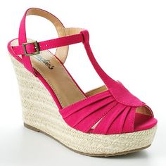 These hot pink wedges would be fun for some of the not-quite maxi length dresses I have. I ended up buying these   - so fun and quite comfortable considering how tall they are!