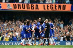 May 2015: DIDIER DROGBA's CHELSEA team-mates carry him off pitch after 22 mins in final STAMFORD BRIDGE appearance...