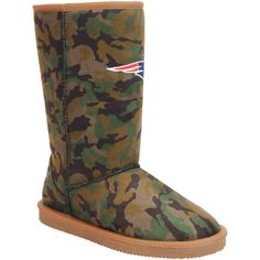 New England Patriots Cuce Women's Defeater Camo Boots - $87.99