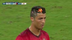 Pin for Later: These World Cup Memes Win Everything  Cristiano Ronaldo, can we talk about that hair?  Source: Twitter user TerezOwens