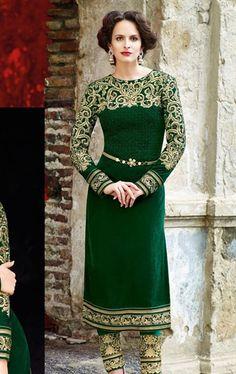 Picture of Admirable Bottle Green Color Designer Salwar Suit