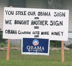 Go ahead, steal another sign