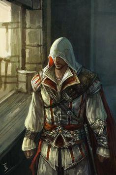 Ezio Auditore da Firenze-Assassin's Creed The Assassin, Arte Assassins Creed, Video Game Art, Video Games, Assasins Cred, Ezio, Arno Dorian, All Assassin's Creed, Vikings