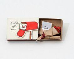 Маленький подарок из спичечного коробка. Little present. Matchbox.
